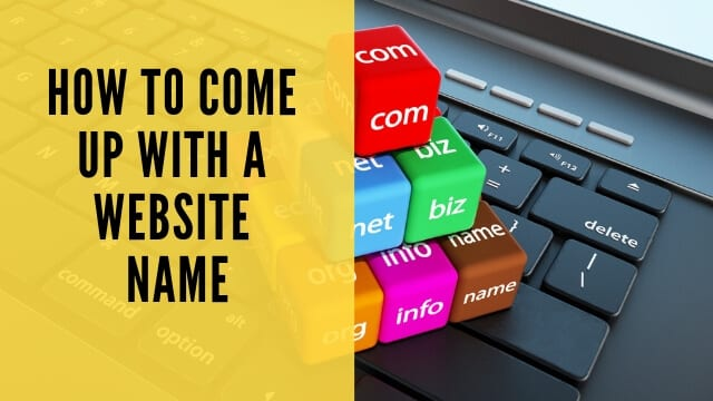 how to come up with a website name